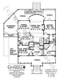 porch house plans sea oats cottage house plan house plans by garrell associates inc