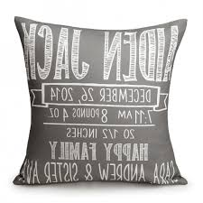 personalized pillows for baby chalkboard birth announcement pillows 4 thumbnail ordinary baby