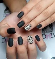29 black acrylic nail art designs ideas design trends