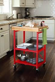 red kitchen island cart home decoration ideas