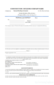 best construction bid proposal template example vatansun
