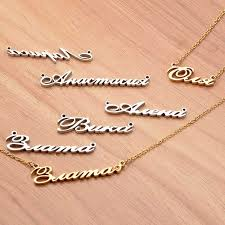 metal name necklace images Gold women fashion jewelry diy name necklace private custom jpg
