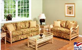 Rattan Sleeper Sofa Captiva 902nat Rattan And Wicker Furniture By Stanley Chair