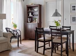 Bar Chairs Ikea by Dark Brown Wooden Four Bar Stool Ikea Dining Room Chairs Small