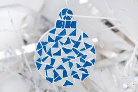 tree ornament mosaic handmade tree