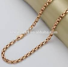 custom gold necklace stainless steel custom gold chain necklace various wheat chain