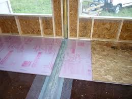 ideas best basement subfloor options for cozy interior floor