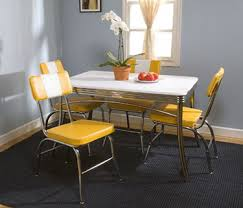 astounding yellow retro kitchen table and chairs 98 for your home