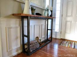 diy console table pottery barn knock off east coast creative