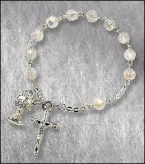 rosary bracelet catholic rosary bracelet communion rosary
