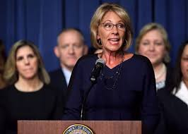 watch betsy devos get turned away from a d c public by