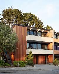 eichler hosue white and mahogany palette revitalizes 1962 eichler home in san