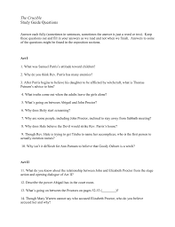 100 act 1 study guide the crucible thesis statement for the