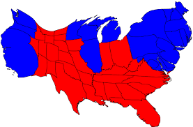 cartogram map election result maps
