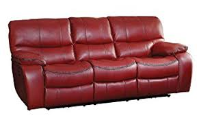 Reclining Sofa Leather Homelegance Pecos Modern Design Power Reclining