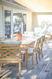 Ballard Designs Patio Furniture Lake House Deck With Teak Furniture How To Decorate