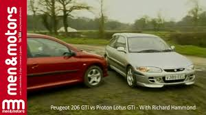 peugeot 206 gti vs proton lotus gti with richard hammond youtube
