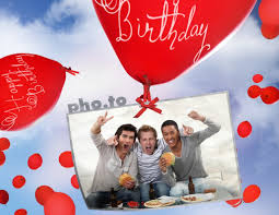 online birthday card birthday card with flying balloons printable photo template