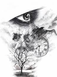 photoshop tattoo sketch tree lake mountains eye burtscher n