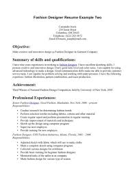 College Admission Resume Objective Examples by Fashion Designer Resume Objective Examples