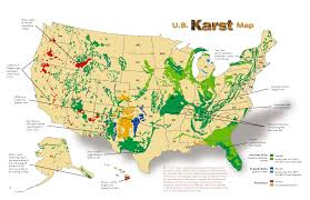 Map Of United States Regions by Karst Regions Of The United States U2014 Where Caves And Aquifers Form