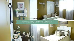 farmhouse style bedroom makeover 2017 youtube