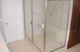 shower stunning custom shower enclosures decem hinged door for
