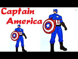 captain america coloring pages learn colors kids