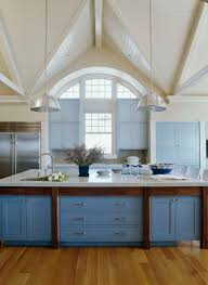 blue kitchen island cabinets 31 awesome blue kitchen cabinet ideas home remodeling