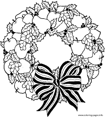 wreath free s for christmas holiday coloring pages printable