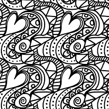 abstract coloring page love of coloring