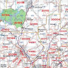 Metro Coverage Map by Atlanta Georgia Zip Code Wall Maps Aero Surveys Of Georgia