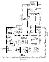 Floor Plans For One Story Homes Hancock Bridge Country Home Traditional House Plans Traditional