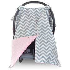 Car Seat Canopy Free Shipping by Chevron Car Seat Canopy With Peekaboo Opening Free Shipping