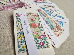 set of 10 fabric patch gift tags liberty gift tags and