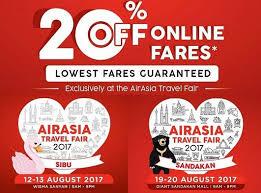 airasia travel fair airasia travel fair to be held in sibu and sandakan airasia