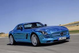 mercedes supercar mercedes sls amg electric drive supercar got your electric blue