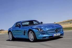 mercedes supercar mercedes sls amg electric drive supercar got your electric blue