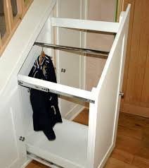 furniture lovely sliding white wooden storage under stairs with