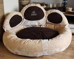 canapé classe pattes de lit pour chien classe luxe canapé knuffelwuff beige forme