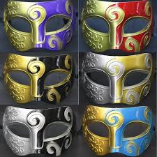 mask for halloween party men fashion spray paint party carnival masks prince jazz
