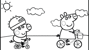 peppa pig coloring pages a4 pig friends coloring page coloring page peppa pig colouring pictures