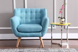 Aqua Accent Chair by Casa Albany Modern Blue Fabric Accent Chair