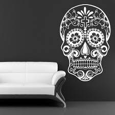 compare prices on decals mexican online shopping buy low price mexican sugar skull office stickers dia de los muertos vinyl wall sticker decal adesivo de parede