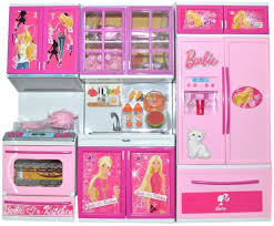 Barbie Kitchen Furniture Techhark Battery Operated Barbie 3 Compartment Kitchen Set For