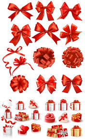 decorative bows and present boxes vector vector graphics blog