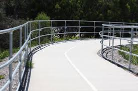 Galvanised Handrail Interclamp Peninsular Link Bike Path Safety Handrail