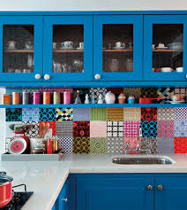 Red And Teal Kitchen by Kitchen Backsplash Home Backsplash Adhesive Tile Backsplash