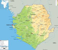 Map Of Europe Physical Features by Physical Map Of Sierra Leone Ezilon Maps