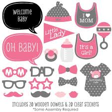 Photo Booth Ideas Amazon Com Baby Baby Shower Photo Booth Props Kit 20